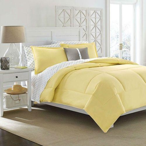Full Queen Cotton Comforter In Solid Yellow Kids Teens Adults Yellow Bedroom Decor Yellow Bedroom Yellow Bedding