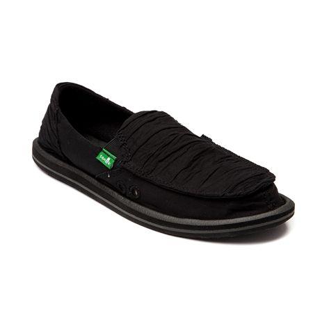Womens Sanuk Shuffle Casual Shoe, Black