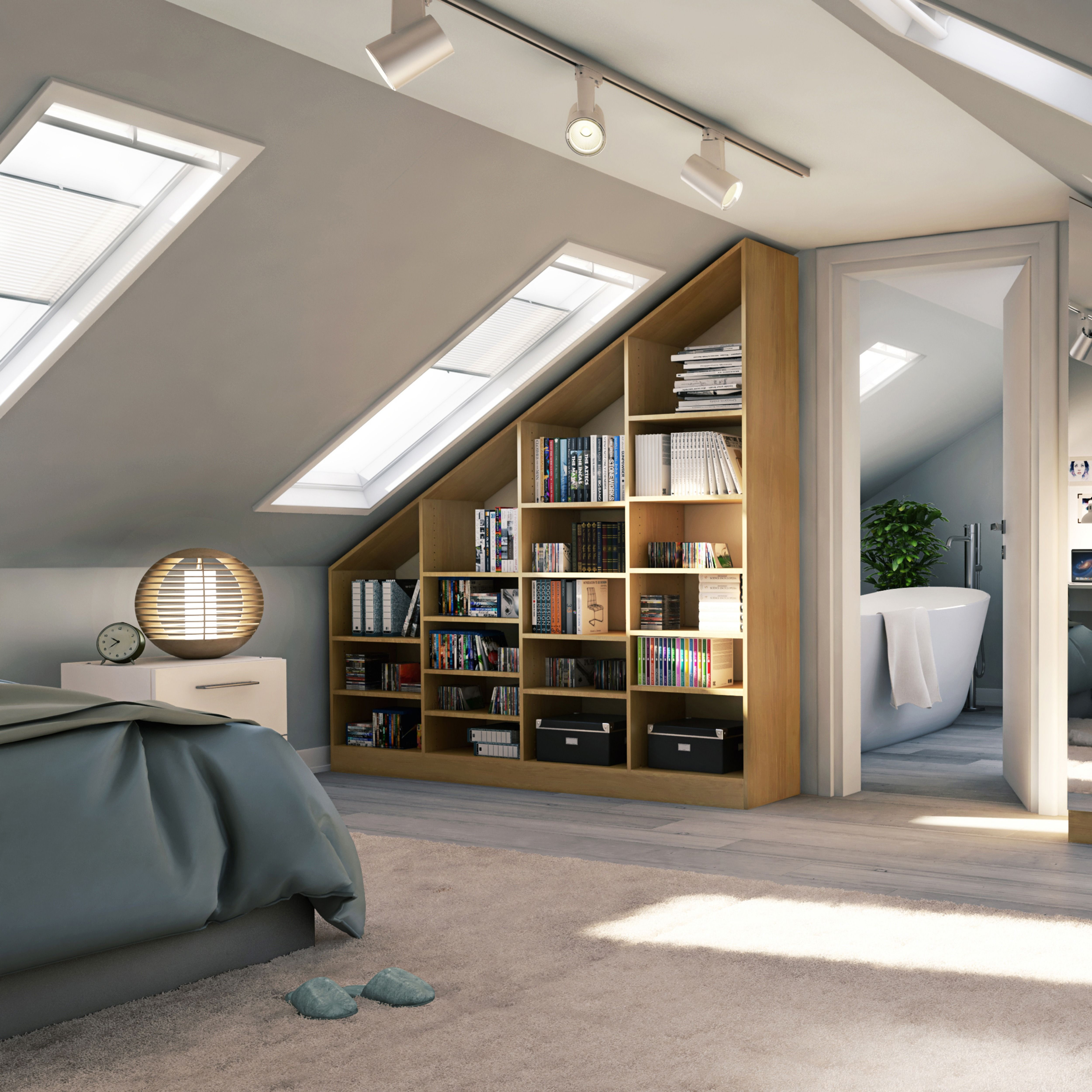 Photo of Dachschrägen-Regal für dein Schlafzimmer