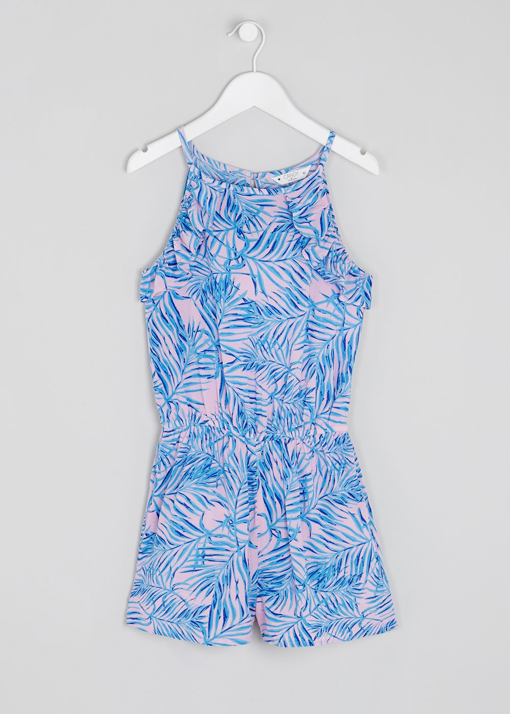 1472f65403 Girls Candy Couture Palm Playsuit (9-16yrs) – Pink – Matalan