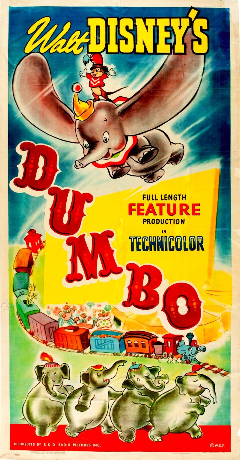 dumbo movie poster walt disney rare hot vintage 2 alte filme poster und film. Black Bedroom Furniture Sets. Home Design Ideas