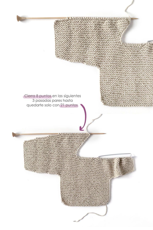 Kimono de Punto para Bebé [ Tutorial y Patrón GRATIS ]   calceta ...
