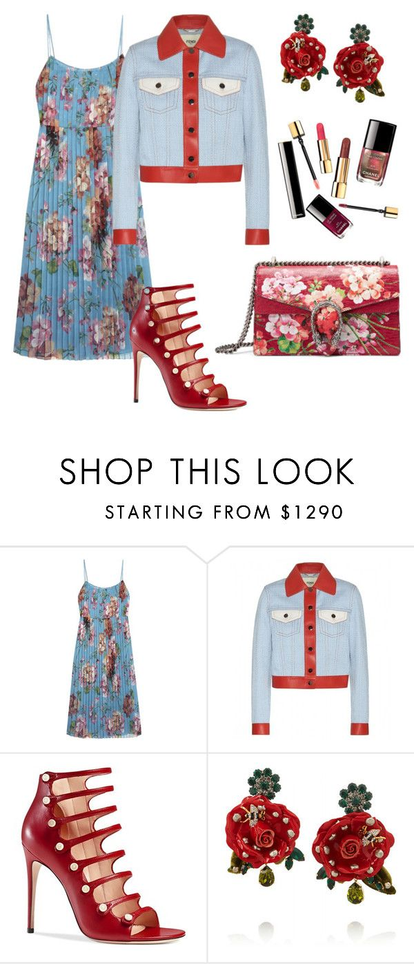 """""""Remember summertime"""" by kamiren ❤ liked on Polyvore featuring Gucci, Fendi and Dolce&Gabbana"""