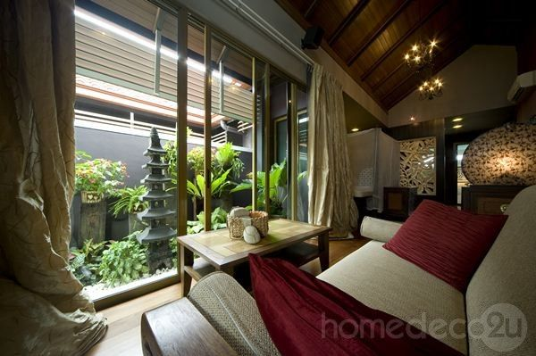 Bali Living Room Combining The Dining Room And Living Area Is