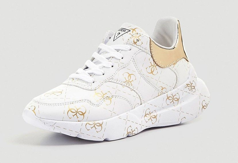 Los Angeles dc1f1 480f2 SNEAKERS MAYLA IMPRIME LOGO Blanc Multi GUESS - Baskets ...