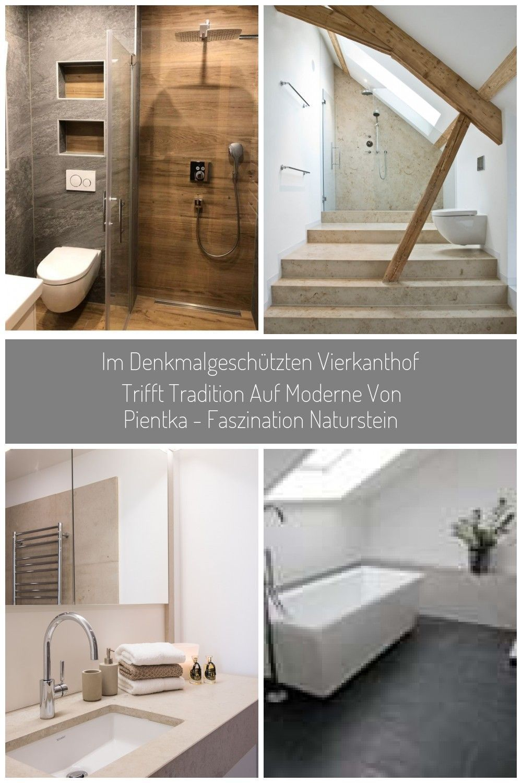Badezimmer Badfliesen In Naturstein Und Holzoptik Bad Ideen Fliesen Bad B Badfl Bathtub Alcove Bathtub Home