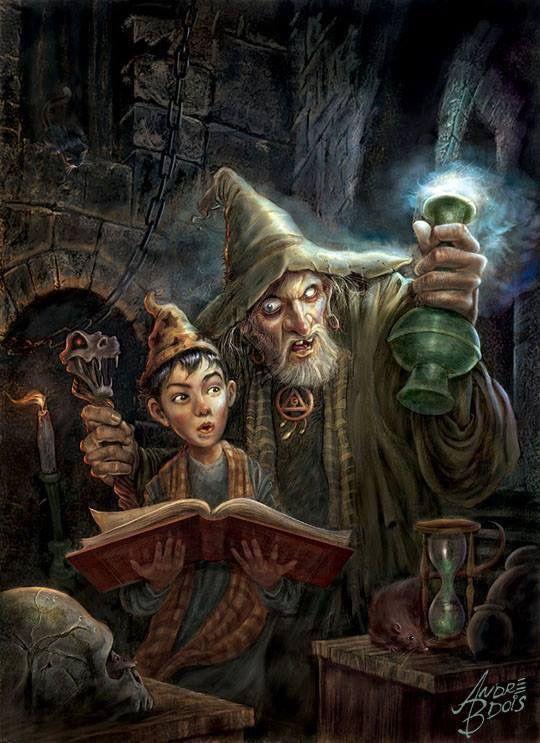Wizard S Apprentice In 2019 Fantasy Wizard Fantasy Art