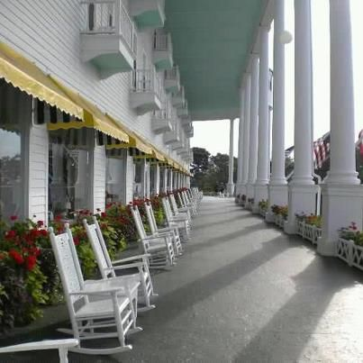 Awesome Grand Hotel porch on Mackinac Island