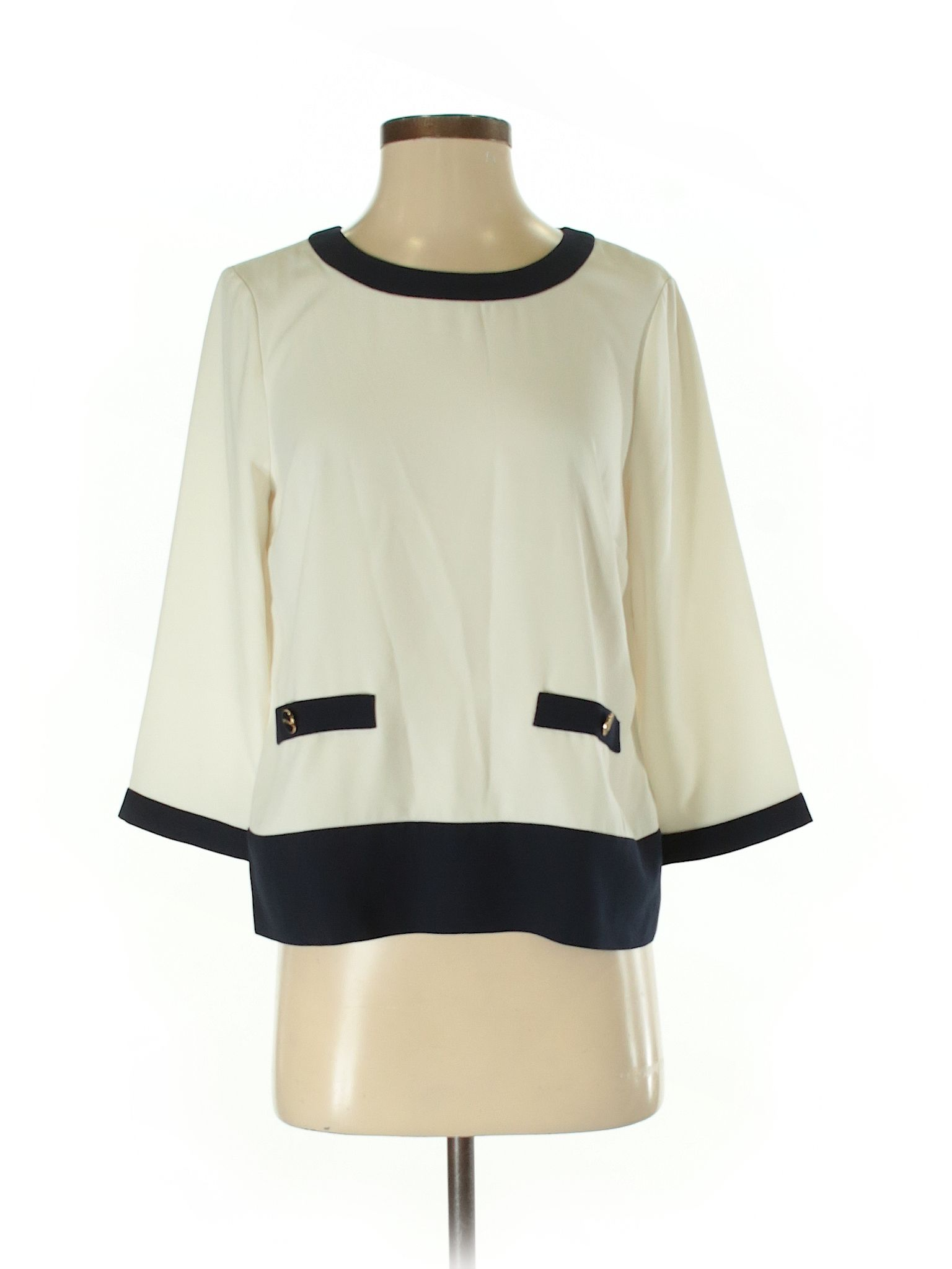 Talbots 34 Sleeve Blouse Size 000 Ivory Womens Tops