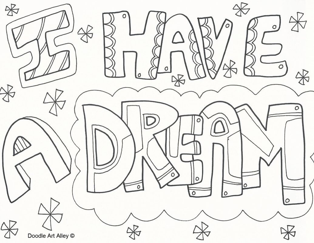 I Have A Dream Art New Have A Dream Coloring Pages | v | Pinterest ...