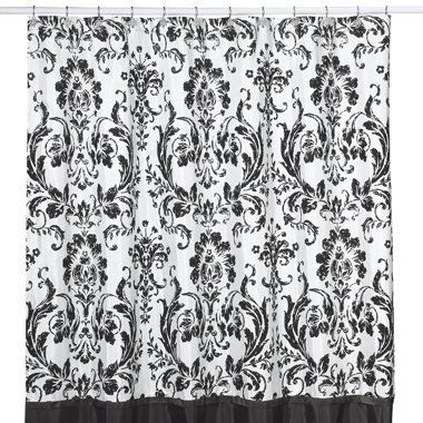 Wholesale Rosewood Black And White Shower Curtain By Nicole Miller Buy  Discount Rosewood Black And White Shower Curtain By Nicole Miller Made In