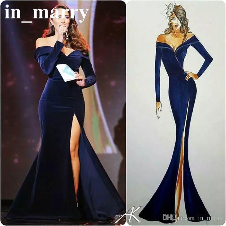 Nice Evening Dresses Plus Size 2017 Royal Blue Mermaid Velvet