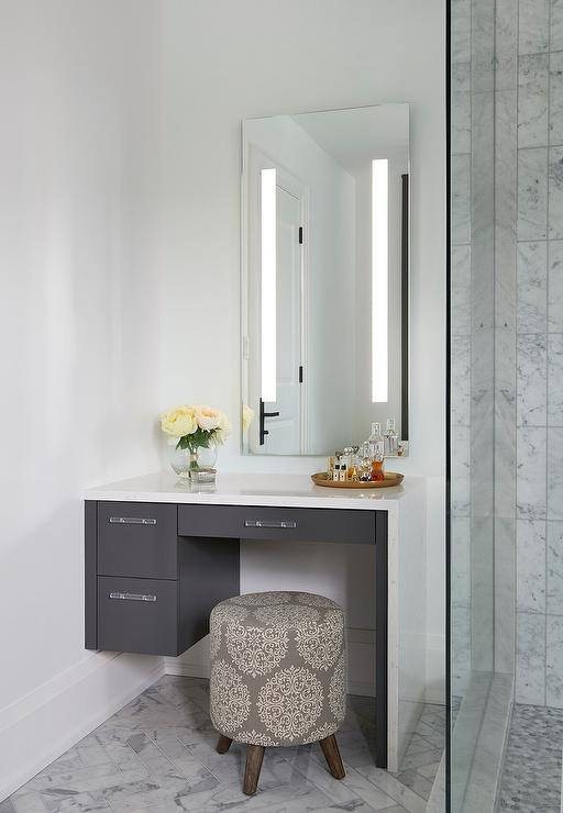 distressed wood bathroom decor in 2020 Makeup table