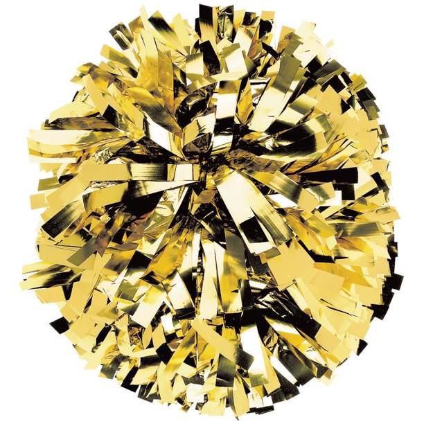 Chasse Solid Color Metallic Cheerleading Pom Cheer Pom With Baton Handle Sold Individually Walmart Com In 2021 Cheer Pom Poms Cheerleading Pom Pom