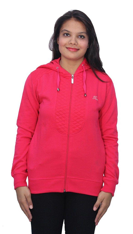 Romano classic pink warm winter sweatshirt hoodie fleece jacket for