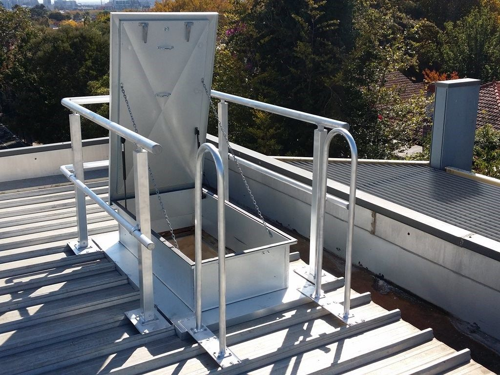 Roof Access Hatches By Am Boss Access Ladders Pty Ltd Architecture And Design Roof Access Ladder Roof Access Hatch Ship Ladder