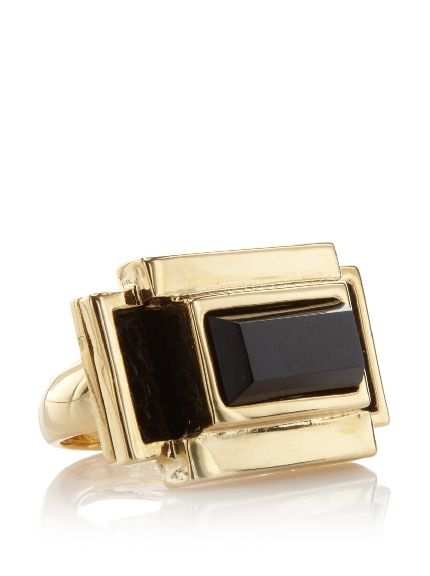 Kara Ross Black Lizard Adjustable Stick Deco Ring