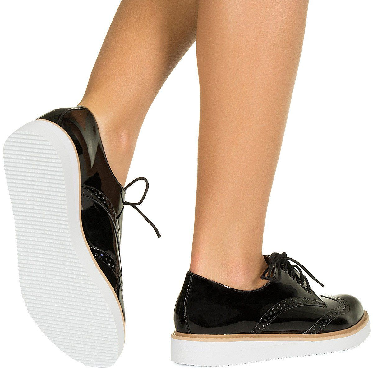 0779349b7b Oxford preto e branco verniz Taquilla - Taquilla - Loja online de sapatos  femininos