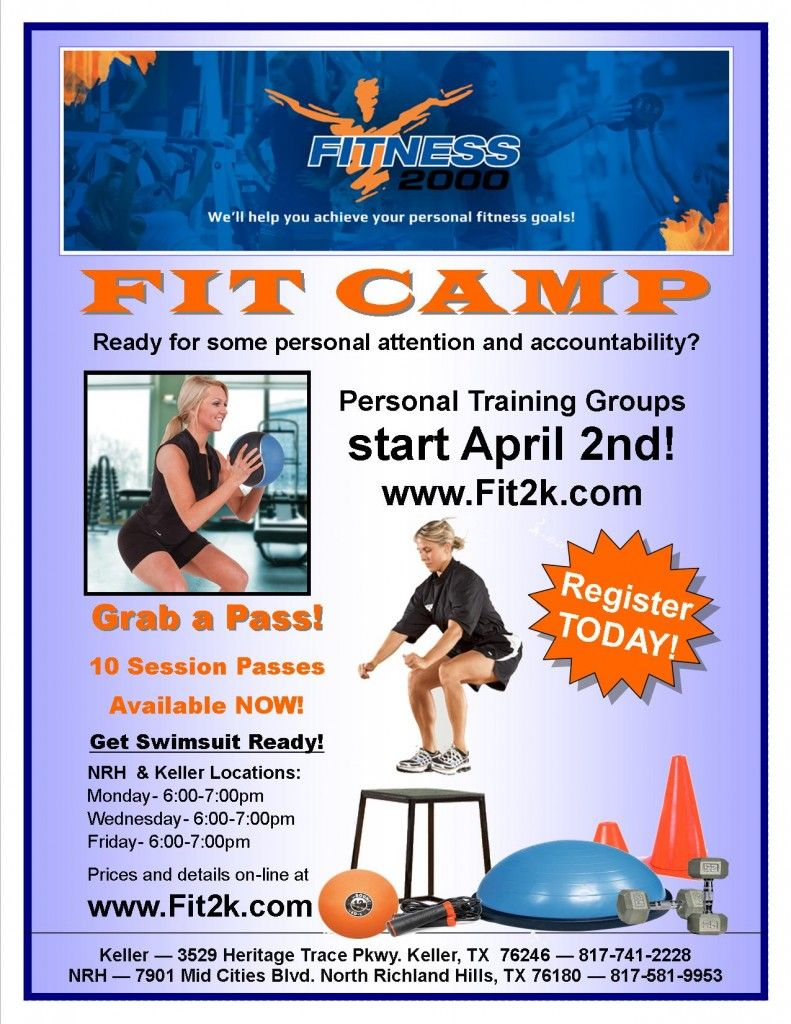 F2K FIT CAMP TRAINING. Personal attention and ...