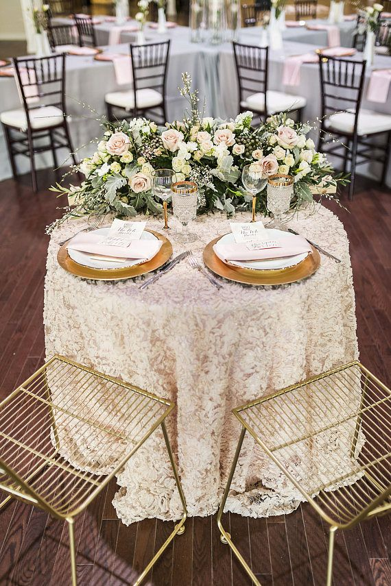 Rent A Rosette Or Lace Tablecloth Linen From Heart Wedding Decor