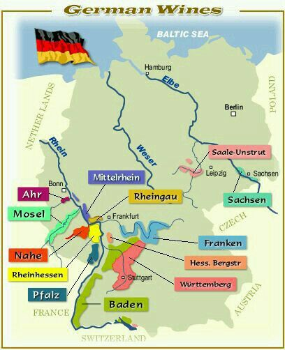 wine regions in germany similar to the map i use in our german wine class try these incredible wines if you havent experienced them yet