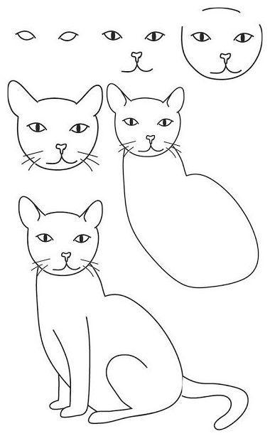 Como Dibujar Animales Tiernos Faciles Como Dibujar Un Gato Como Dibujar Animales Faciles Como Dibujar Animales
