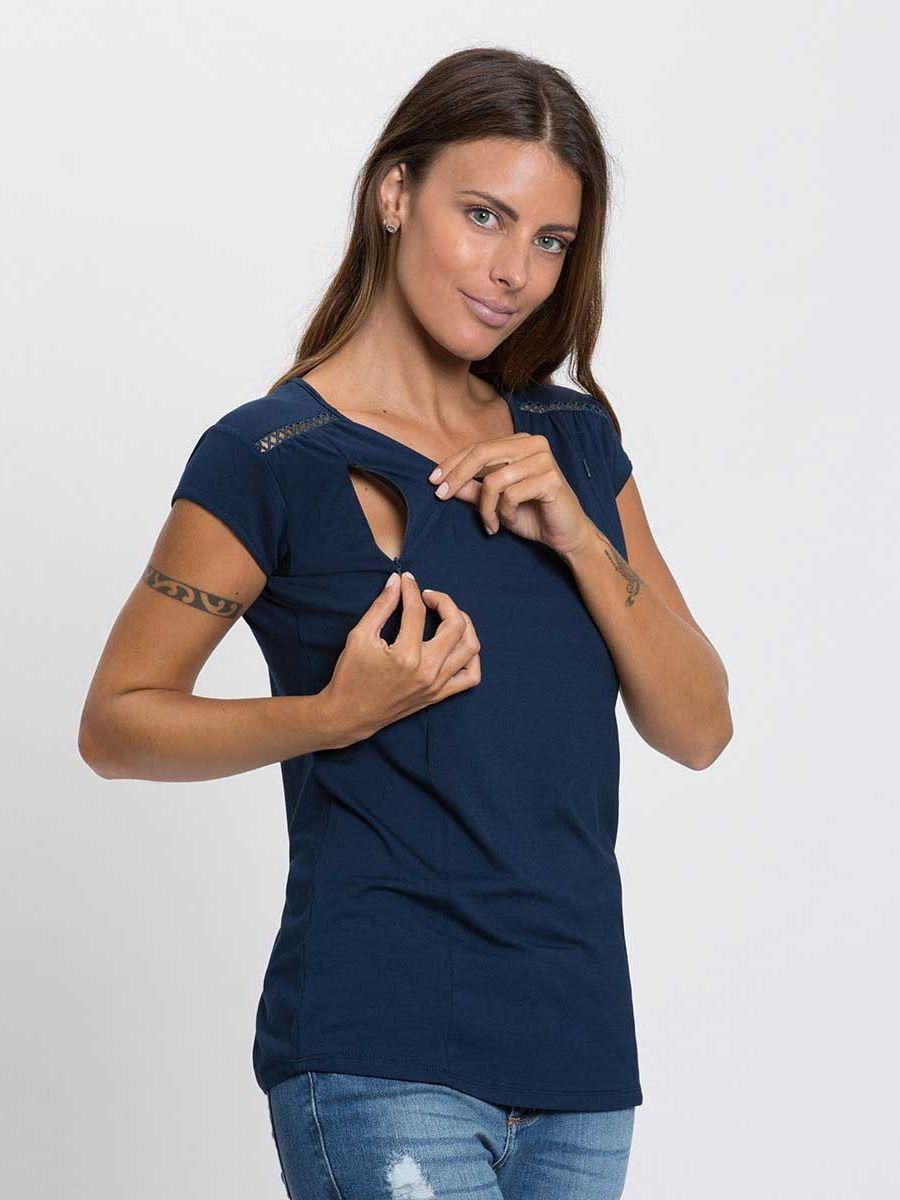 d1354a854d Blusa de Amamentação Duda com Zíper Invisível. Acesso discreto e prático