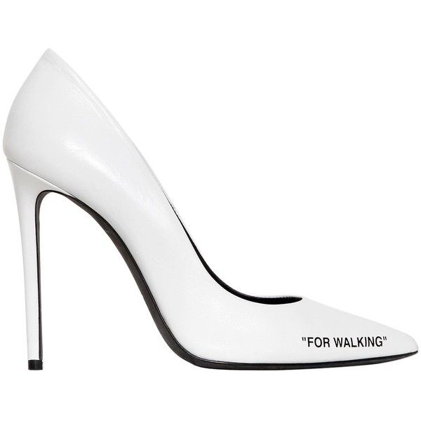90a0ceacc49 Stiletto Heels · Off White Women 100mm For Walking Leather Pumps ( 815) ❤  liked on Polyvore featuring