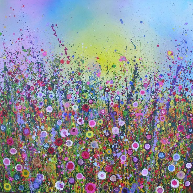 Flowerscapes wild flower paintings yvonne coomber