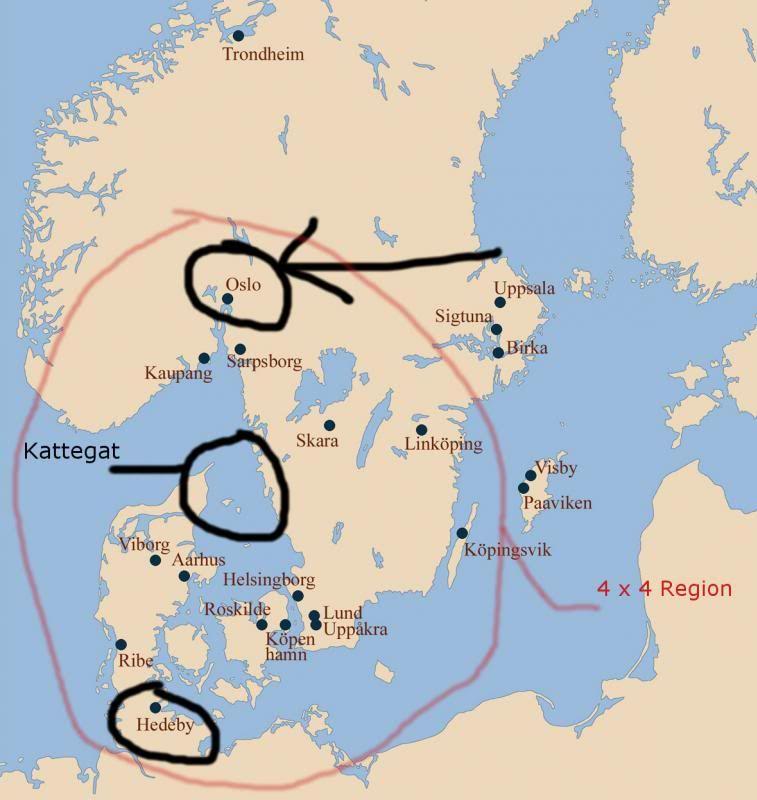 Hedeby Vigtig Handelsby I Vikingetiden Vikinger Og Mytologi - Sweden map hedestad