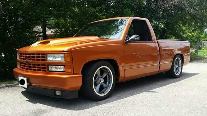Orange Chevy Truck Custom Chevy Trucks Chevy Trucks Chevy Pickup Trucks