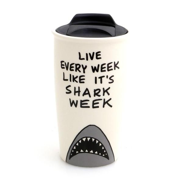Shark Week Eco Travel Mug #sharkweekfood