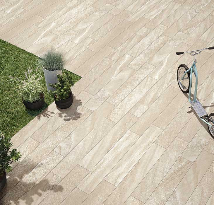 Wood Look Porcelain Tiles For Outdoor And Indoor Use   From Kajaria