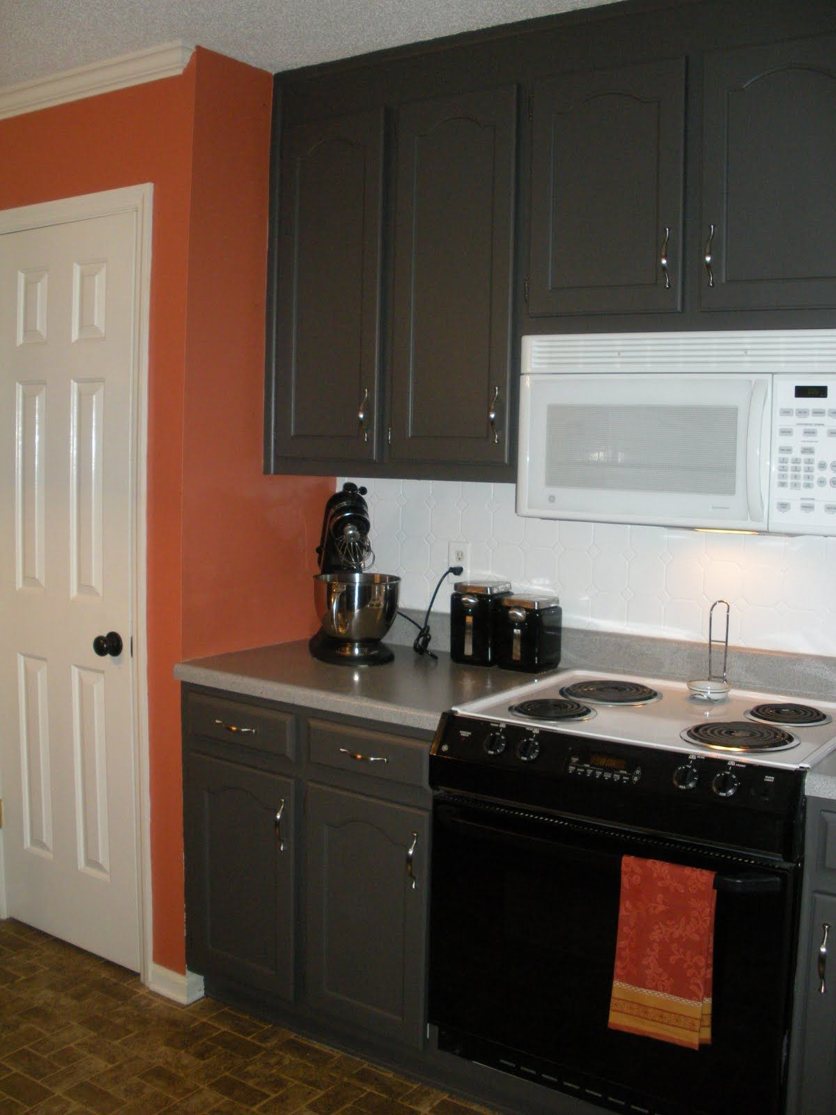 Grey Painted Cabinet Kitchen Makeover Grey Cabinets Grey Kitchens