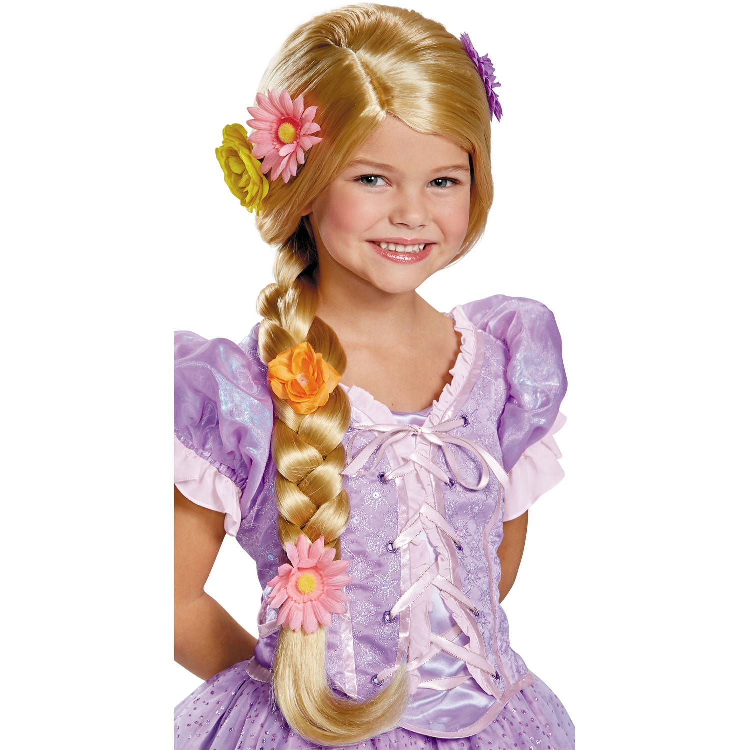 Rapunzel Deluxe Girls Child Tangles Long Blonde Costume Wig