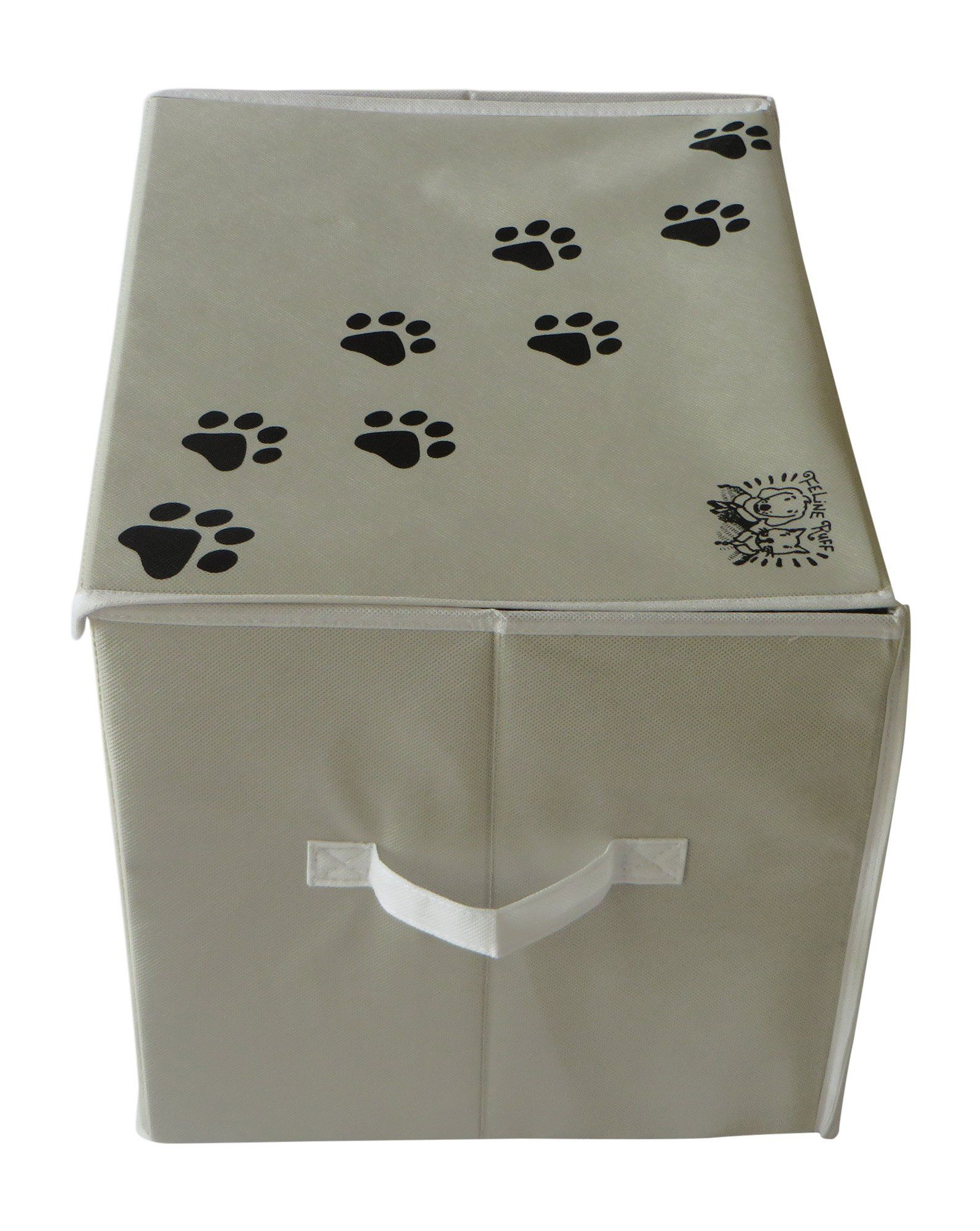 Feline Ruff Large Dog Toys Storage Box 16 X 12 Inch Pet Toy Storage Basket With Lid Perfect Col Dog Toy Storage Storage Baskets With Lids Toy Storage Baskets