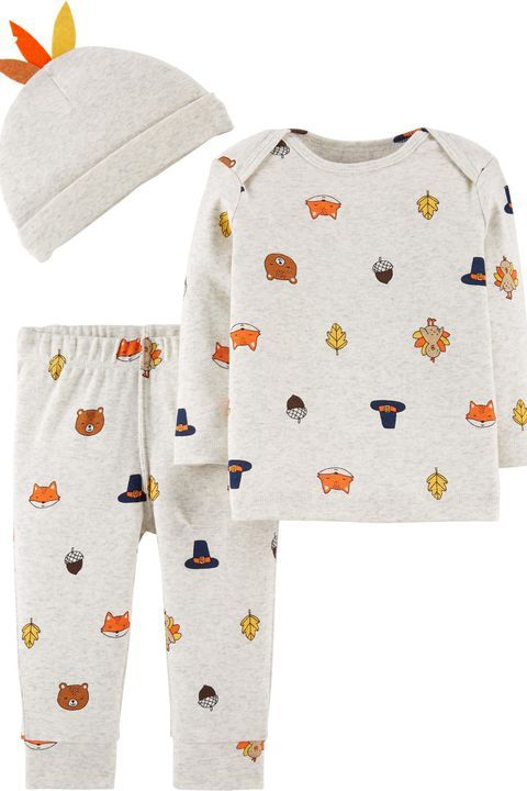 60d3699ba This patterned set is comfy enough for your kid to wear all day on  Thanksgiving. #holiday #thanksgiving #party #shopping #inspiration #love
