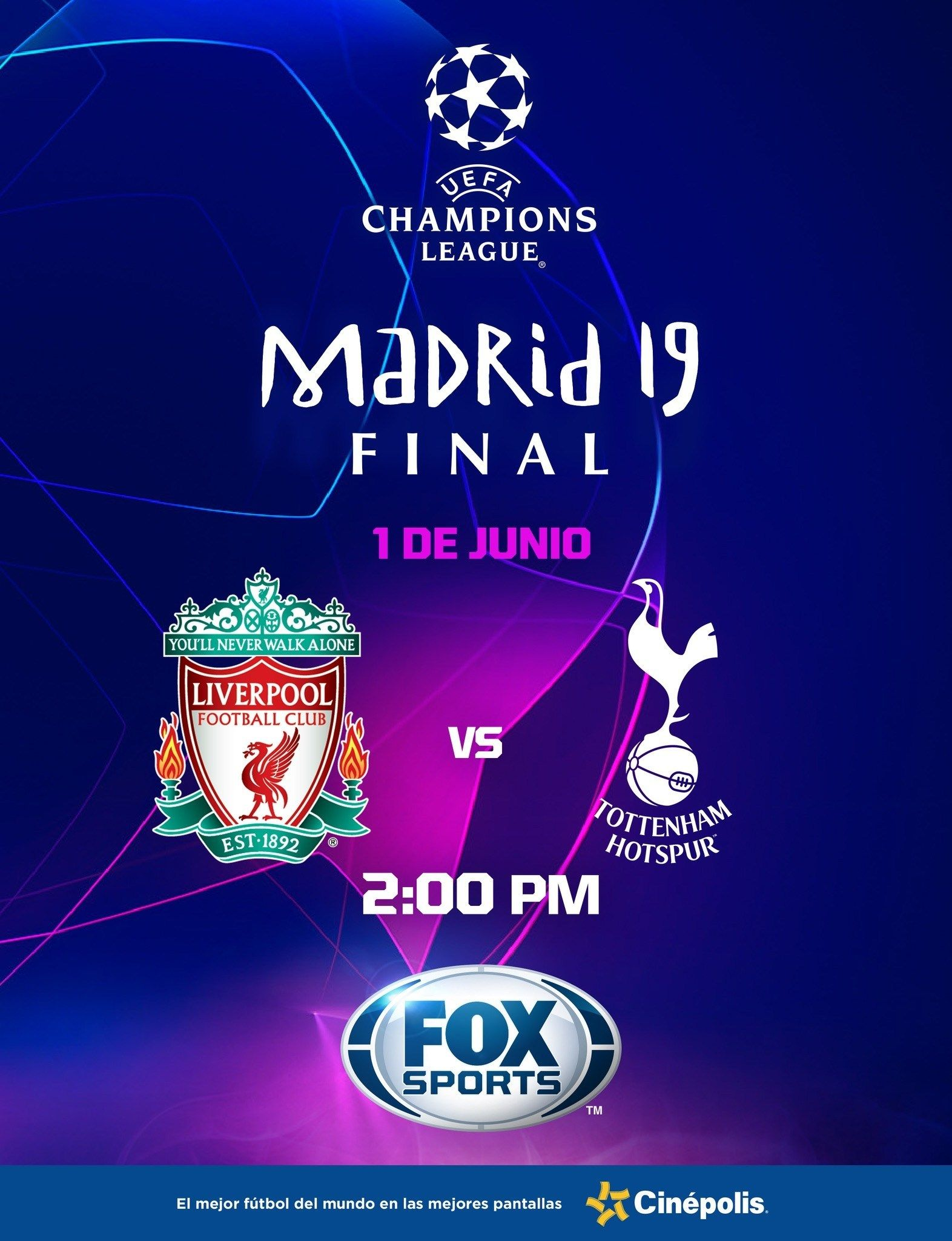 Final de la UEFA Champions League 2019 en Cinépolis ¡La