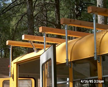 Angled Deck Support Bus Conversion School Bus Camper