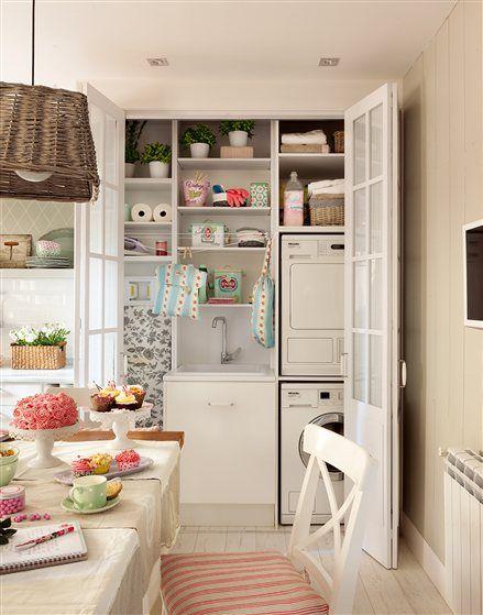 Armario que contiene zona de lavado de la cocina orden - Armario ropa blanca ...
