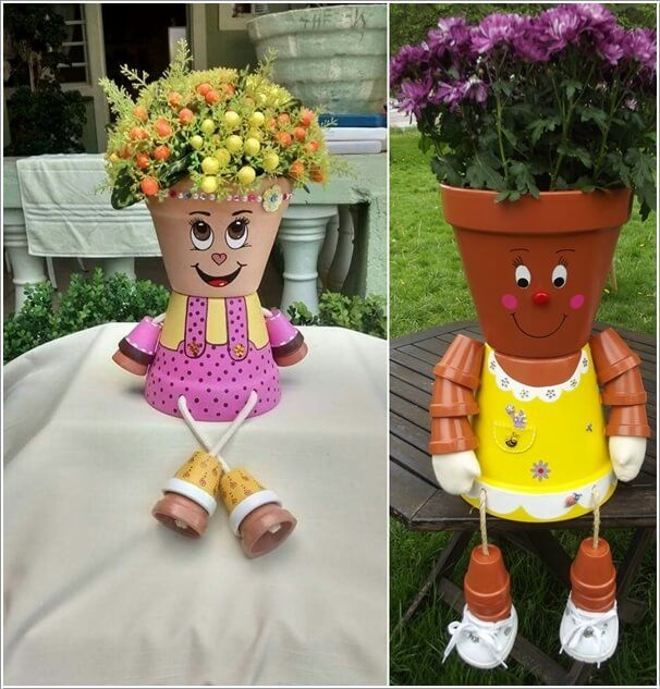 awesome clay pot designs 1 Cool Clay Pot Garden Crafts for You to Try  Garden crafts