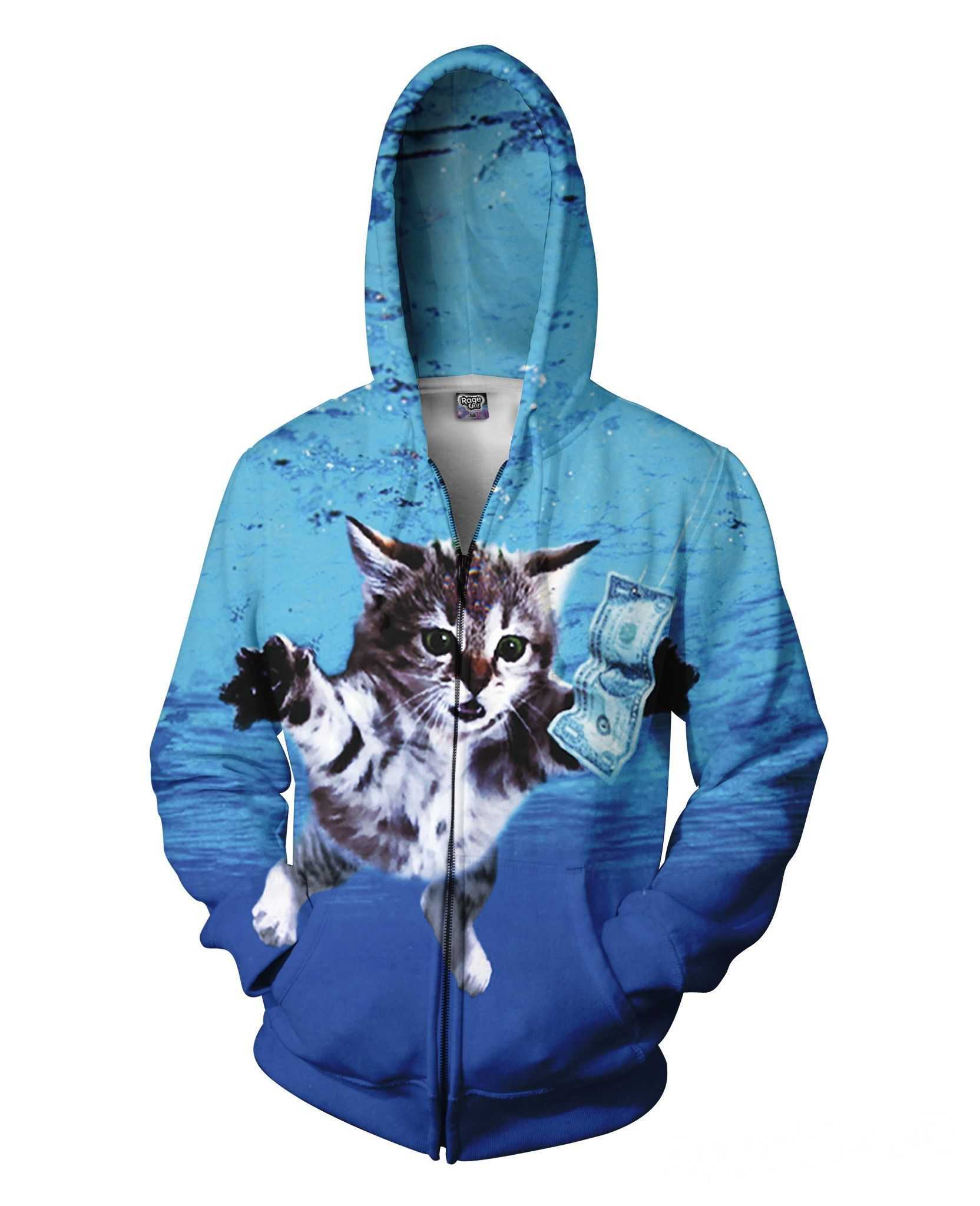 Cat Cobain Zip-Up Hoodie | Products