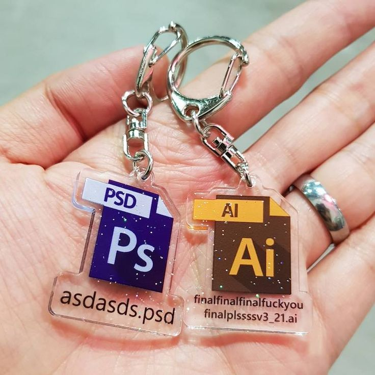 Designers, You'll Love These $5 Keychains Of Popular Graphic Design Softwares And Memes