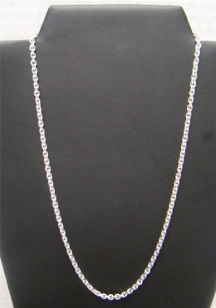 925 Sterling Silver Round Link Single Chain