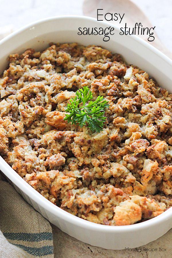 Easy Sausage Stuffing | Mandy's Recipe Box #stuffingrecipes