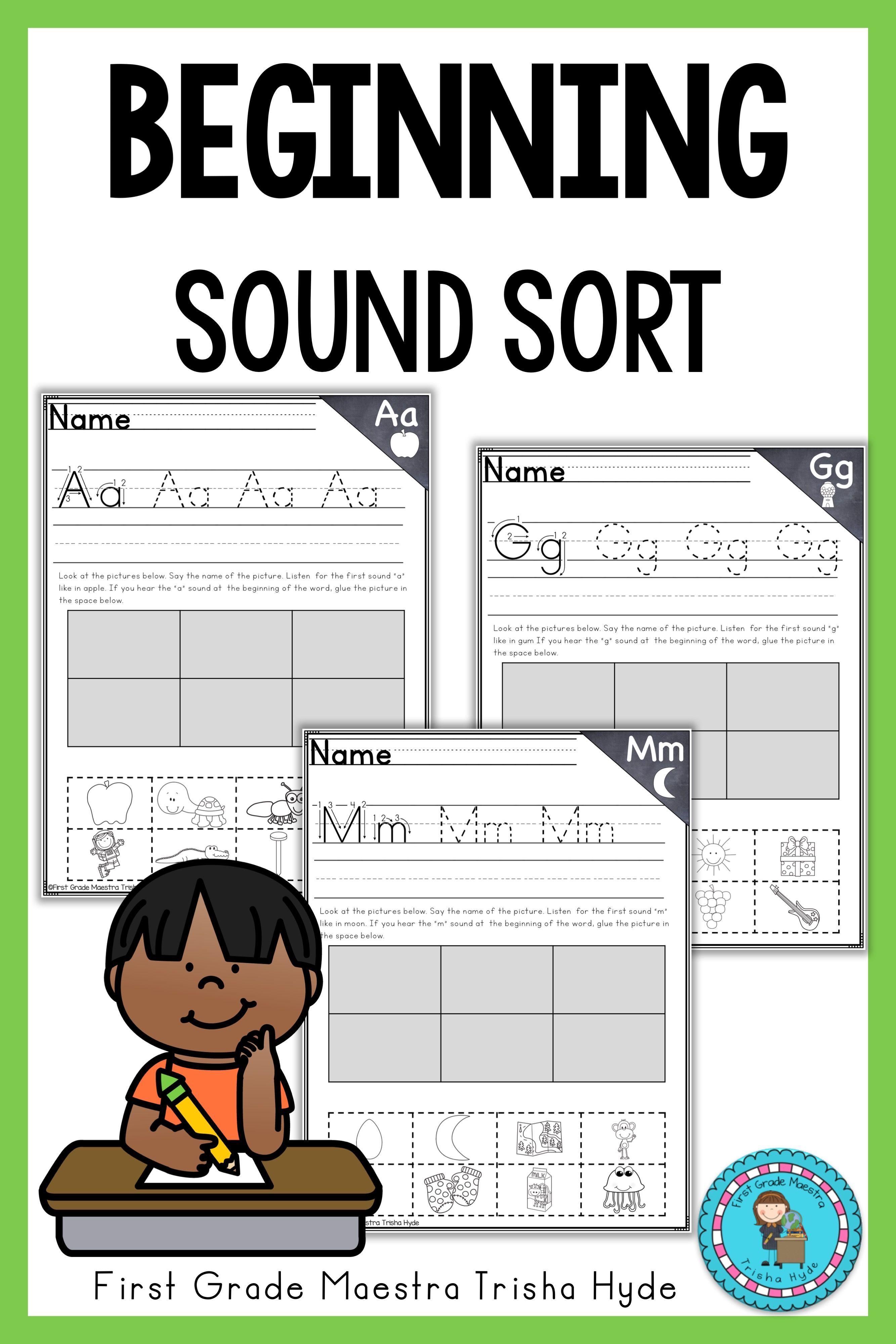Alphabet First Sound Sort