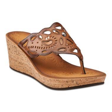 b359986f814f38 Clarks® Mimmey Anne Cork Wedge Sandals found at  JCPenney