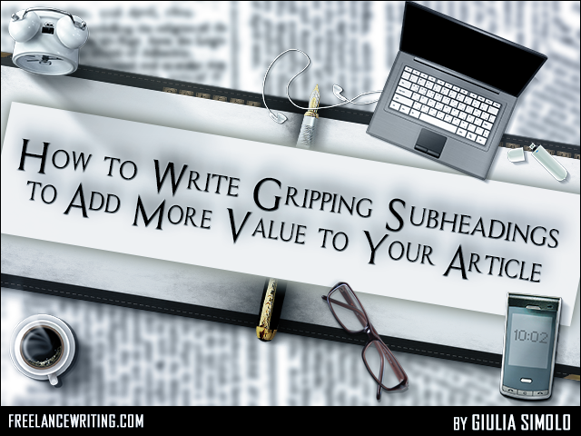 how to add subheadings in word