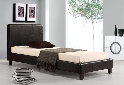 Single PU Leather Bed Frame Black | Leather bed frame, Bed frames ...