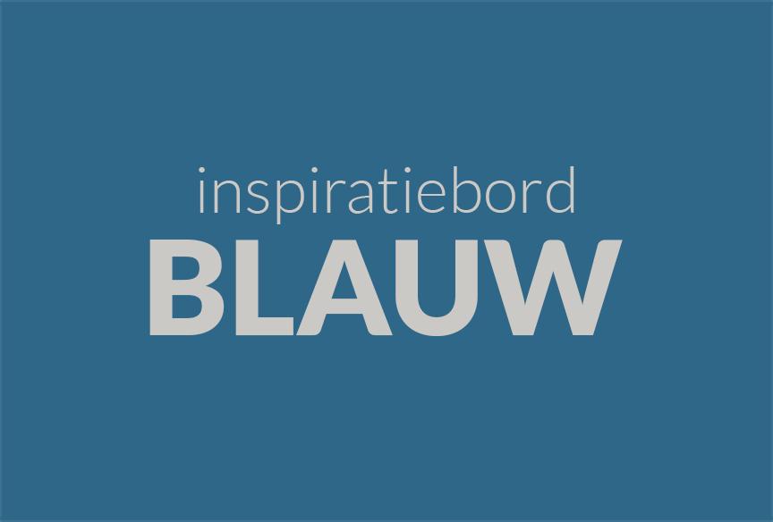 Inspiratiebord Blauw
